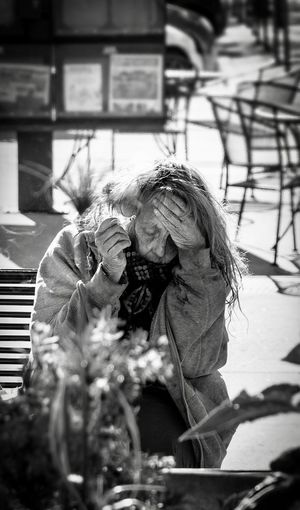 Impossibility of reason City Life Bad Luck Smoking Issues Despair Homelessness  Real People Day People Architecture Occupation Lifestyles The Photojournalist - 2018 EyeEm Awards City