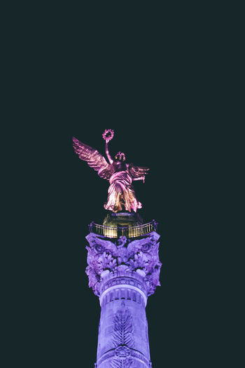 Force. Architecture Clear Sky Copy Space Human Representation Low Angle View Night No People Outdoors Sculpture Sky Statue Travel Destinations Colour Your Horizn