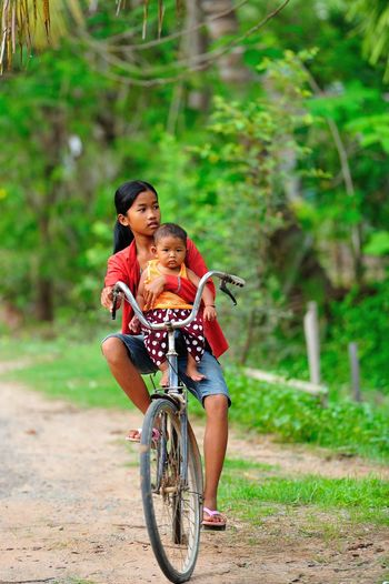 Let's play Bicycle Transportation Childhood Child Motion Full Length EyeEmNewHere Lifestyles Sport Riding Nature Ride Cycling Activity Outdoors
