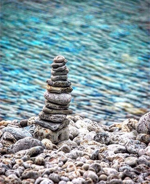 Keep grounded Tobermory Stack Pebble Beach Nature Waterfront Water Ontario, Canada Brucepeninsula Iceage Photography Photographer Clear The Great Outdoors - 2017 EyeEm Awards