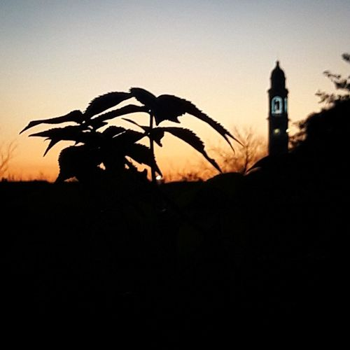 Sunset Silhouette Clock Tower No People History Travel Destinations Outdoors