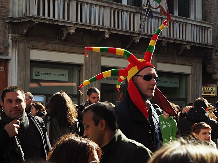 EyeEm Diversity People Men Crowd Carnival Carnevale Mask Hat Fool  Giullare Venice, Italy