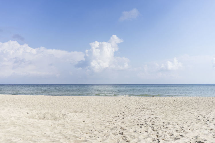 Sellin View Beach Beauty In Nature Blue Cloud - Sky Day Horizon Over Water Nature No People Outdoors Sand Scenics Sea Sky Tranquil Scene Tranquility Water