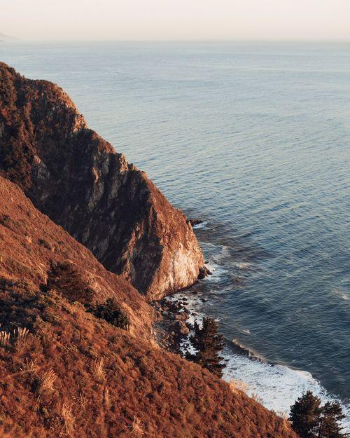 Big Sur Sea Water Nature Outdoors Scenics Tranquility California Pacific Ocean Bigsur