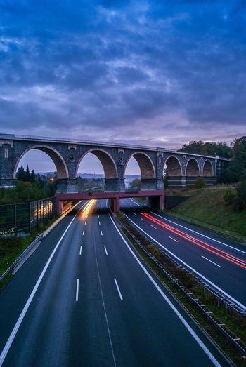 Viadukt an der A4 Highway Autobahn Bridge Brücke