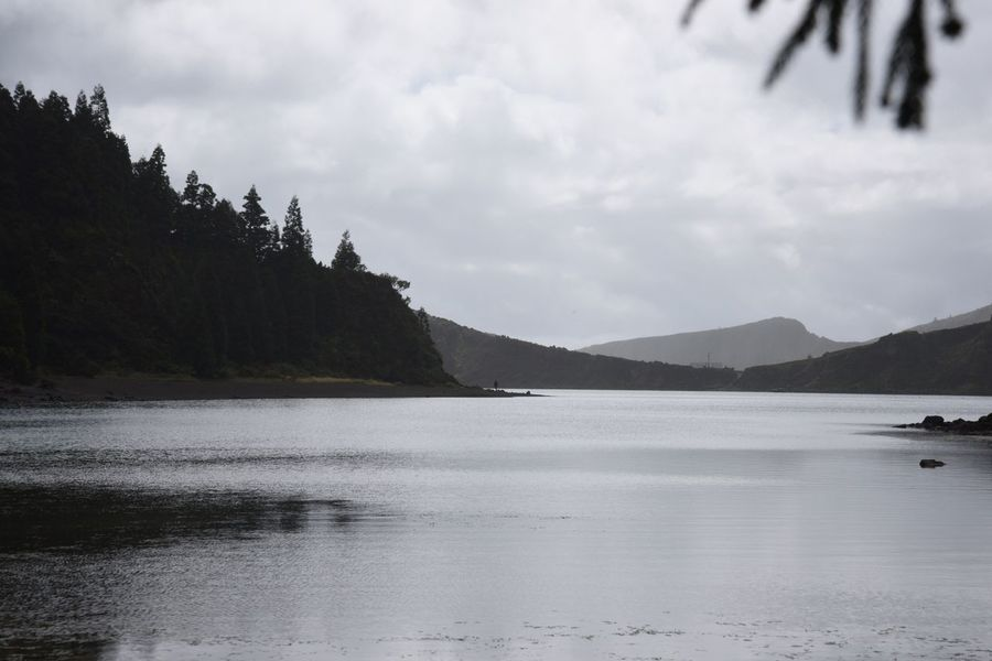 Nature Beauty In Nature Mountain Sky Water Tranquility Tranquil Scene Scenics Outdoors No People Tree Lake Day Landscape Lagoa Do Fogo Portugal Travel Traveling Travel Photography