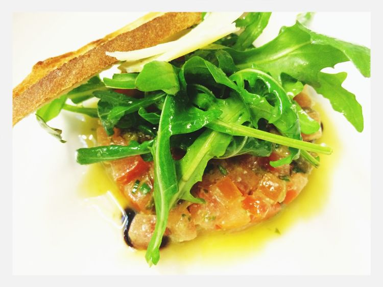 Good Morning Prague :-) Don't forget to have Breakfast today! The special of the day at Hotel Josef is a delicious tomato tartar with rocket and Parmesan :-)