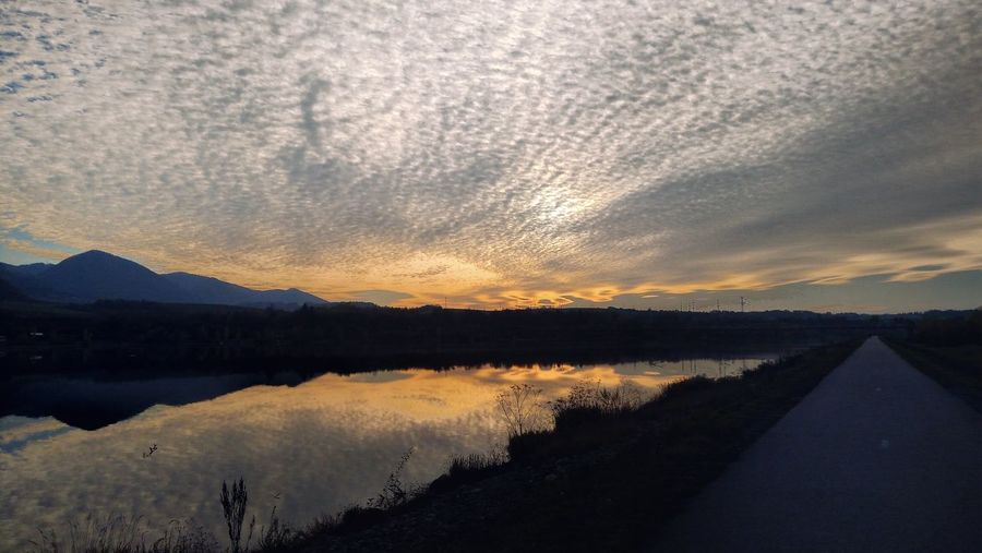 Dam Sunset Water Tree Mountain Reflection Silhouette Lake Sky Landscape A New Beginning