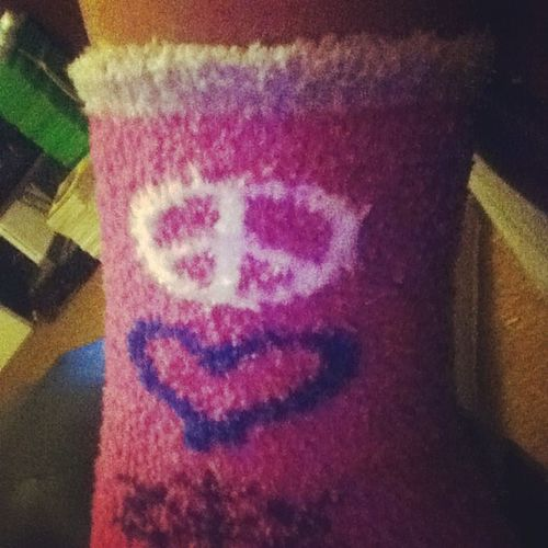 Christmas socks!! lol SpreadThePeace 