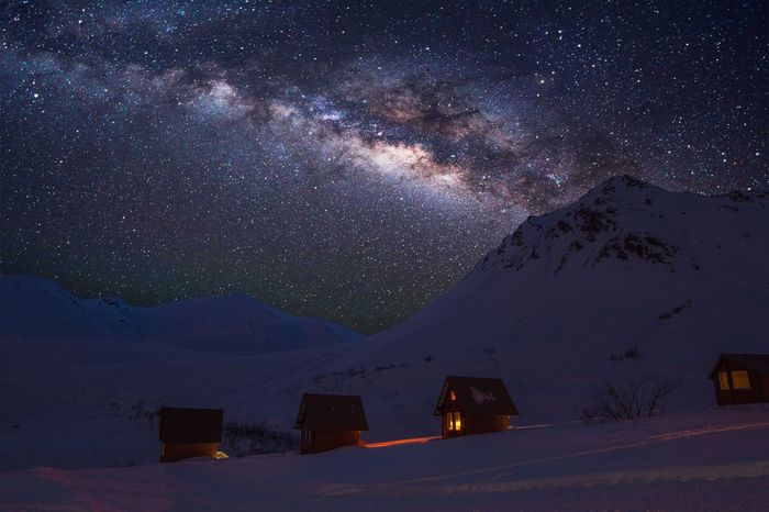 Hatchers Pass Alaska. Stars Milky Way Alaska Alaskan Sky Nikon D7200 Nikon D7200 PhotoGraphy Cabins  Snow Mountain Snowy Mountains The Great Outdoors - 2017 EyeEm Awards