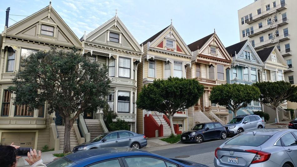Architecture Day Building Exterior Car Tree Built Structure Outdoors No People Sky City San Francisco California History Painted Ladies San Francisco EyeEmNewHere