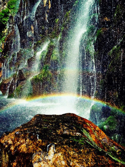 Adventure Backgrounds Beauty In Nature Canions Close-up Colorful Colors Day Georgia Nature No People Outdoors Palace Rainbow Reflection Tree Water Waterfall Woter Woterfall