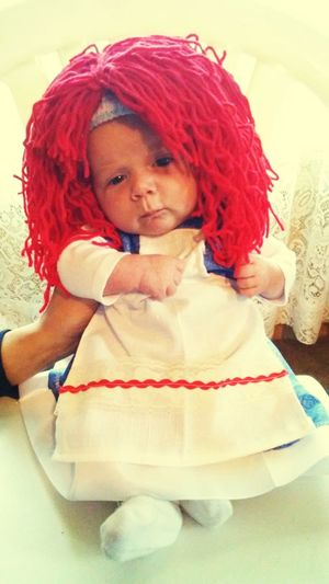 Raggedy Ann Portrait Child Smiling Childhood Red Cheerful Happiness Sitting Redhead Looking At Camera Wig Costume Trick Or Treat Halloween October EyeEmNewHere