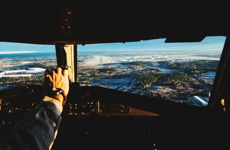 Cockpit Art ATR72 Veiw Arlanda