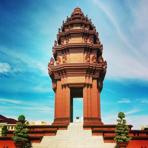 Phnompenh Cambodia Sky Independence Monument Bluesky Monument Mobile Photography
