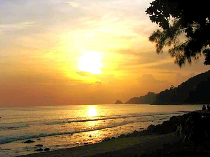 phuket island thailand Sea Sunset Beach Sun Tranquility Nature Water Travel Destinations Landscape Dramatic Sky Horizon Over Water Vacations Tourism Beauty In Nature Outdoors Journey Travel Adventure
