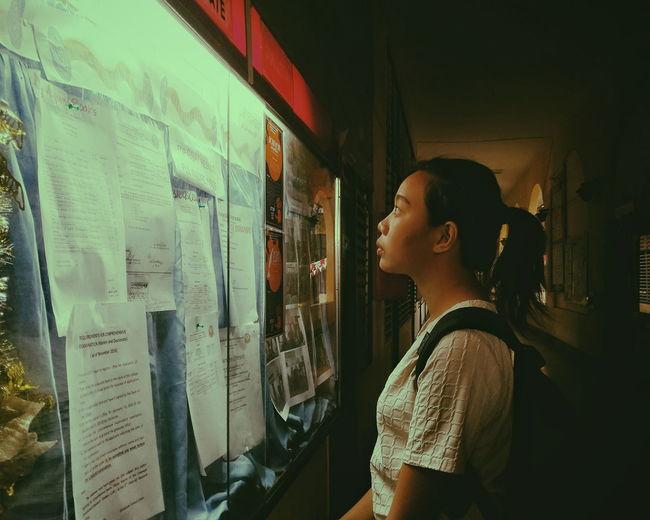Waiting for Test results Zamboanga City Urban People Philippines Mobilephotography Bulletin Board Woman Woman Portrait Portrait Portrait Of A Woman Technology Young Women Women Side View Standing Announcement Message The Portraitist - 2018 EyeEm Awards
