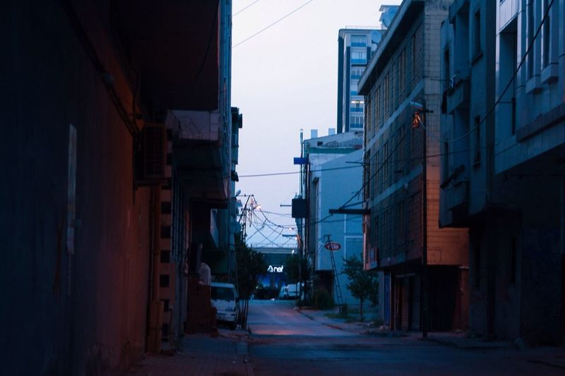 Building Exterior Architecture Built Structure Building City Street Direction Clear Sky Empty Transportation Nature Narrow The Way Forward Outdoors Residential District No People Sky Day Alley Road