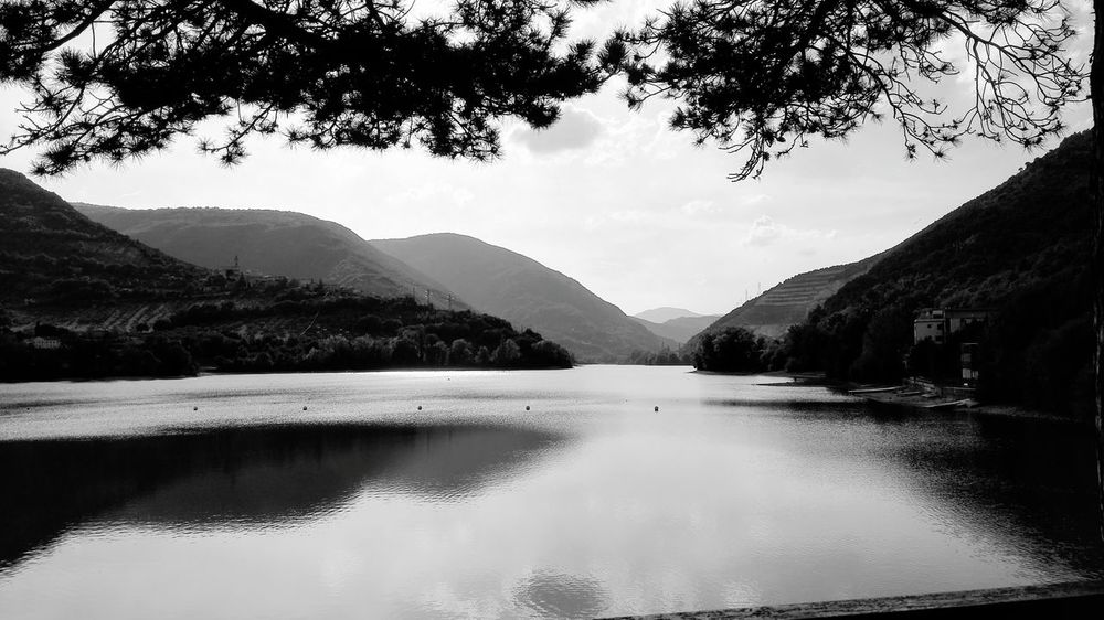 Reflection Mountain Landscape Lake Horizontal Water No People Outdoors Monochrome Photography Day