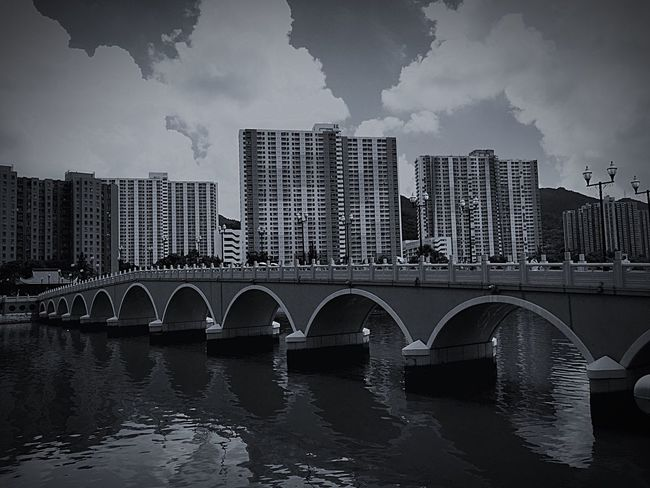 Shatin Mun River , Bridge - Man Made Structure HongKong Shatin