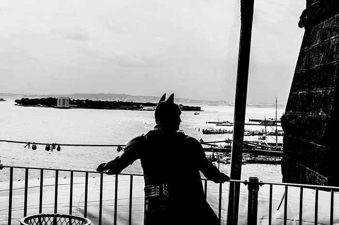 Unlikely Heroes Open Edit NYC Photography Batman Blackandwhite Photography Streetphotography Brooklyn Bridge / New York From My Point Of View We Are Photography, We Are EyeEm Blackandwhite