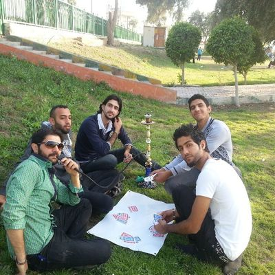My brother and my friends... we were at abo nawas