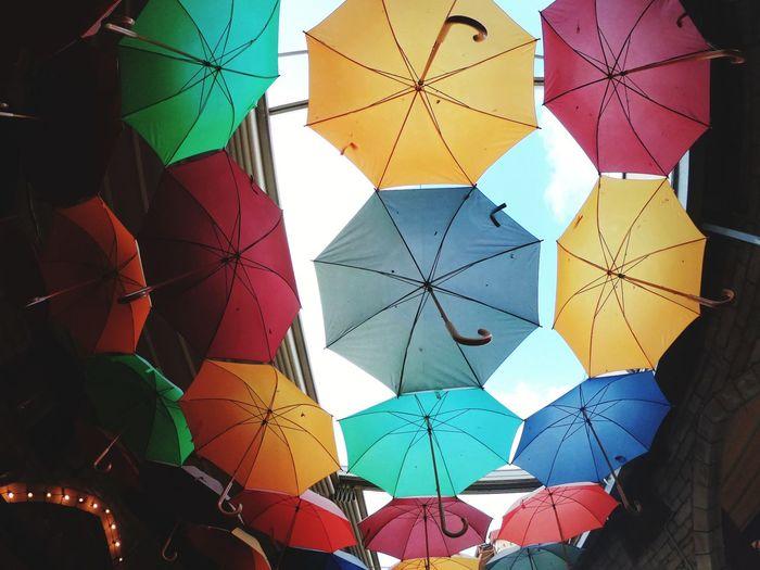 colors Umbrella Rain Multi Colored City Pattern Close-up Mosaic Hexagon Seamless Pattern Geometric Shape Rectangle Triangle Square Shape Diamond Shaped Triangle Shape Composition EyeEmNewHere