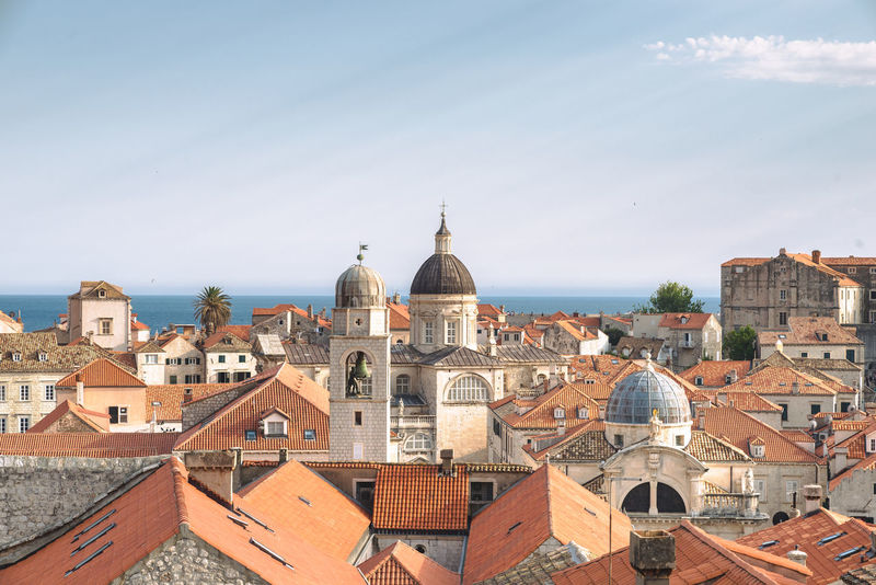 Old City of Dubrovnik, Croatia Croatia Europe Trip Ray Rays Of Light Roof Sky And Clouds Travel Travel Photography UNESCO World Heritage Site Architecture Building Exterior Built Structure City Cityscape Cluds Day Dome Dubrovnik Europe High Angle View Landscape Outdoors Place Of Worship Sky Travel Destinations Your Ticket To Europe