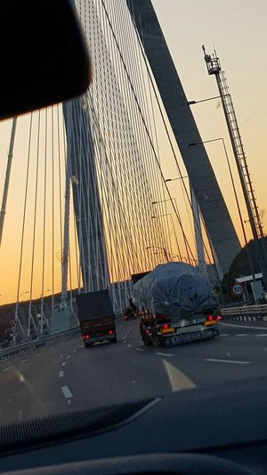 Amazing Travelling Traveladdicted Bridge Istanbul Turkey Transportation Car No People Architecture Built Structure Day Outdoors Sky Mobility In Mega Cities