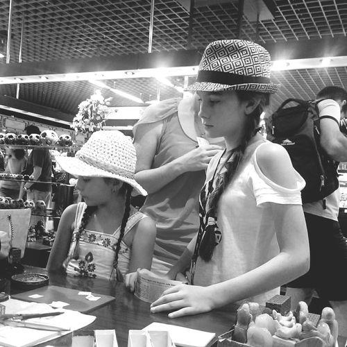 Little Girl Watching Black&white