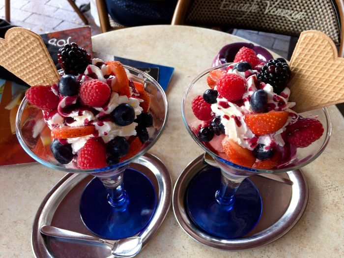 Dessert Sweet Food Food And Drink Blueberry Fruit Freshness Raspberry Food Serving Size Ice Cream Indulgence Ready-to-eat Frozen Food No People Temptation Dessert Topping Indoors  Day Close-up Ice Cream Sundae