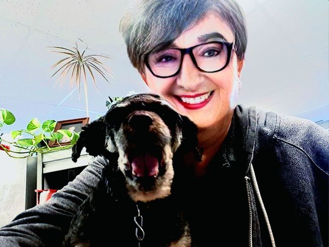 The other older me with my boy. EyeEm Selects Older Woman Mature Adult Mature Women Self Portrait Faceapp Male To Female Drag Yorkiepoo Me And My Dog Lifestyles Adorable Pets Portrait Dog Looking At Camera Eyeglasses  Close-up Animal Tongue Animal Mouth Animal Nose Friend Animal Face Self Portrait Photography Pet Owner Selfie Yawning