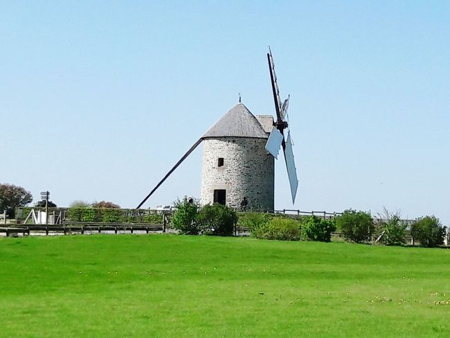 Grass History Religion Architecture Built Structure Outdoors No People Sky Day Building Exterior Rural Scene Traditional Windmill Tree Windmill