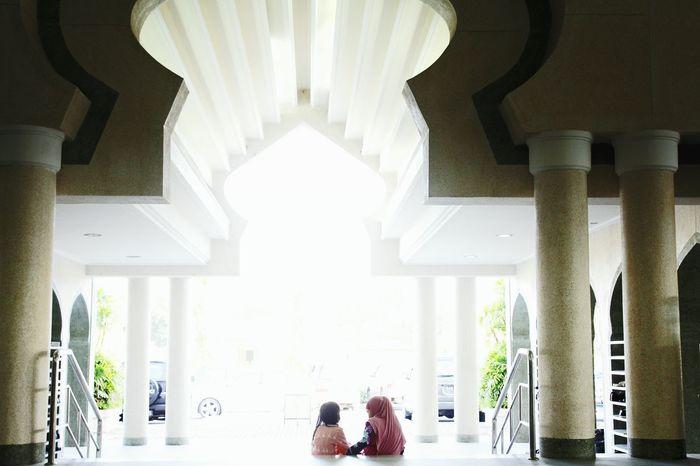 Friendship.  Jerudongmosque Masjidameerah