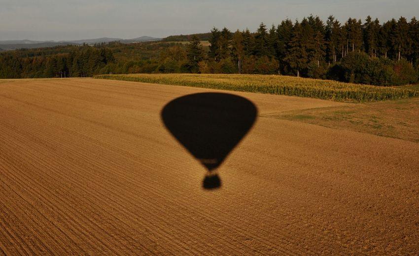 View of hot air balloon