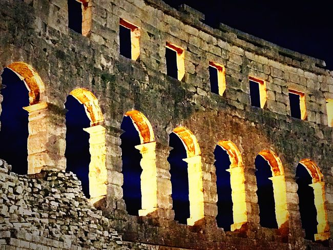Pula Gladiator Rom Anphitheater Pula Croatia Architecture History Built Structure Old Ruin Ancient The Past Low Angle View
