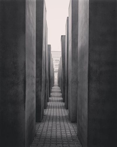 Monument Built Structure Building Exterior Architecture City Day No People Monuments Memoriam Holocaust Memorial Berlin Photography Berlin Street Photography Berlin, Germany  Travelphotography Imstatravel Blackandwhite Photography Eyemgallery EyEmcontest EyeEmBestPics EyeEm Selects The Week On EyeEm