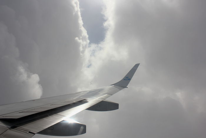 KLM Air Vehicle Airplane Airplane Wing Cloud - Sky Embrear Flying Journey Transportation Travel EyeEmNewHere