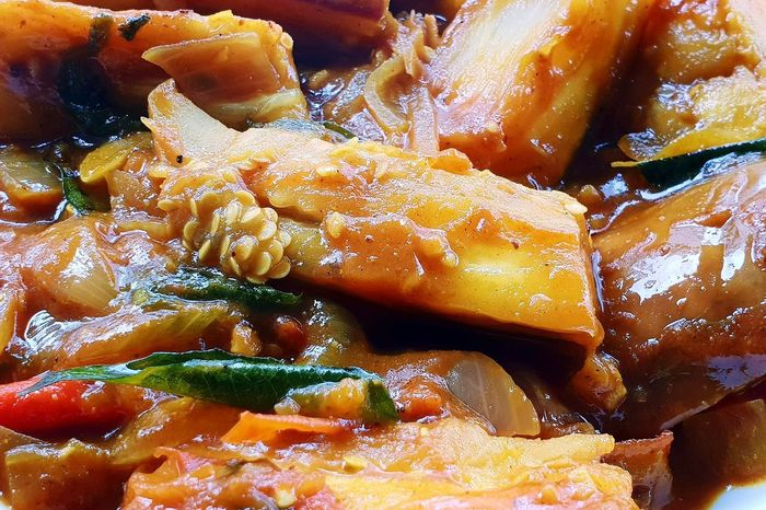Curry Eggplant 🍆 Eggplant Aubergine Vegetable Curry Indianfood Spicy Food Details Foodphotography Close-up