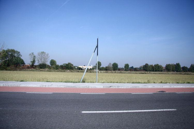 Clear Sky Empty Road Field Landscape Outdoors Road Solitude Street Tree