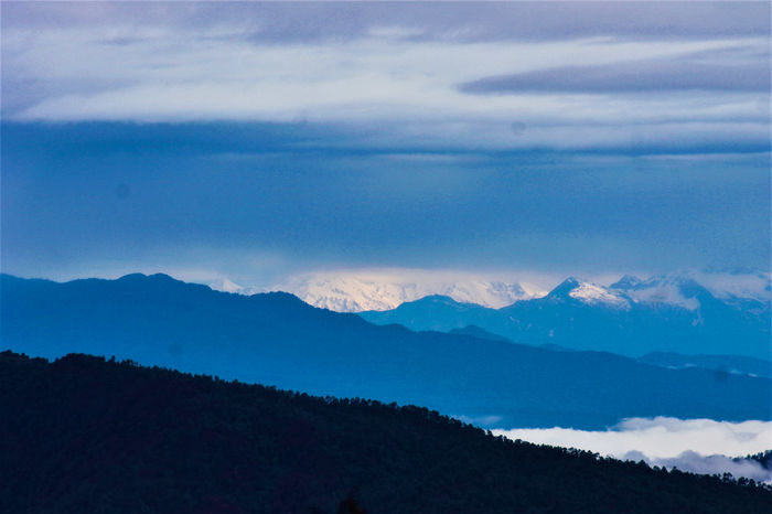 The Himalayan RangeLost In The Landscape Himalayas Scenics Landscape Nature Mountain Range Mountain Cold Temperature Blue Mukteshwar Mukteshwar, Nainital Perspectives On Nature