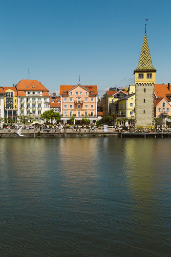 Architecture Bodensee Building Exterior Built Structure Clear Sky Day Lindau Nature No People Outdoors Place Of Worship Religion Sky Spirituality Travel Destinations Water Waterfront