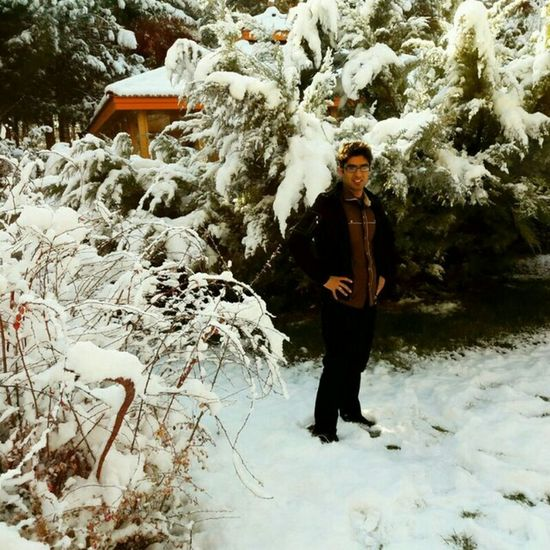 Dr.Saeid in winter world