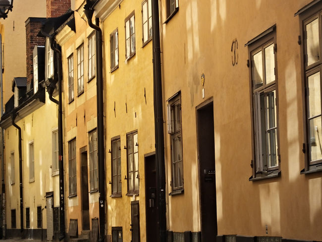 Architecture Building Building Exterior Built Structure City Exterior Façade Gamla Stan Side By Side