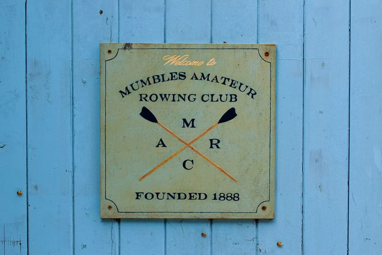 Check This Out Rowing Swansea Mumbles Sign Blue Oars Sea Wood Old Vibrant Colors Wales