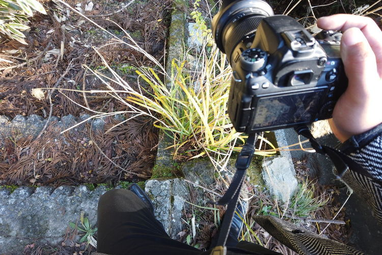 Japan Travel Destinations Countryside Lifestyles Japan Travel Japan Trip  POV Personal Perspective Legs Walking Mountain Man Photographer Photography Selfie Strolling Travel Traveling Exploring Camera DSLR Fashion Stairs Shooting Photos Taking Photos Business Working Human Body Part One Person Real People Human Hand Nature Hand Plant Body Part Holding Occupation Human Leg Day Men Work Tool Low Section Solid Cutting Industry Outdoors Finger