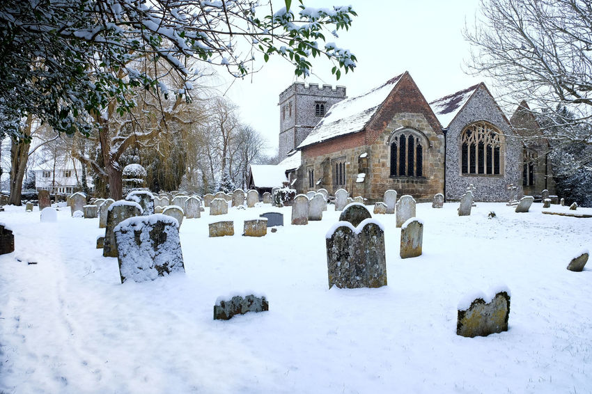 Church Snow ❄ Winter Architecture Bare Tree Building Exterior Built Structure Cemetery Church Architecture Cold Temperature Day Grave Yard Grave Yard View Gravestone Graveyard Nature No People Outdoors Religion Ringmer Church Snow Snow Covered Tree Winter