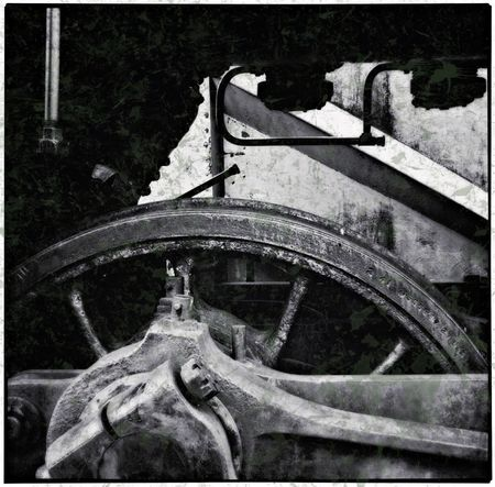 Driving wheel Railroad Locomotive monochrome