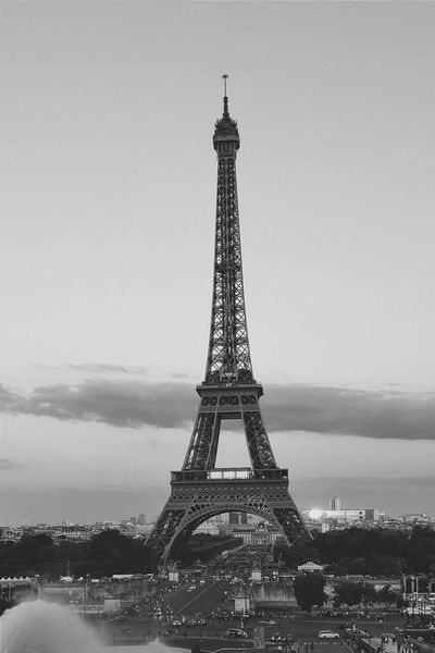 Travel Destinations Eiffel Tower Paris Blackandwhite