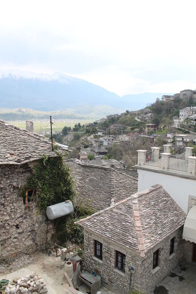Albania Architecture Building Exterior Built Structure City Cityscape Gjirokaster House Mountain Range Residential District Roof Town TOWNSCAPE Unesco Welkulturerbe Unesco World Heritage UNESCO World Heritage Site